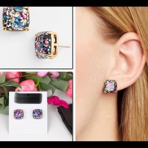 Kate Inspired Rainbow Glitter Studs